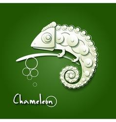 Scrapbooking chameleon vector