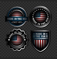 set of american icons vector image