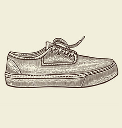 Sketch of sport shoes vector