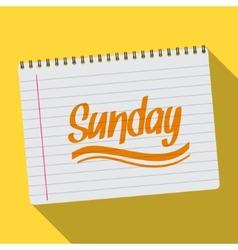 Spiral calendar sunday notebook notepad long vector