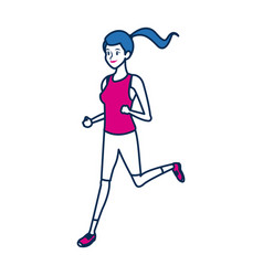 Sport woman character people fitness vector