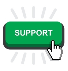 support button icon vector image vector image