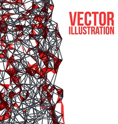 Wireframe polygonal background Abstract form with vector image vector image