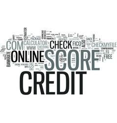 Z online credit score text word cloud concept vector
