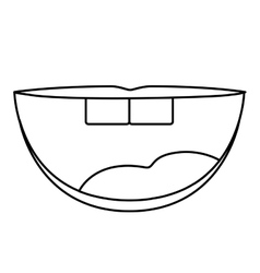 Isolated mouth cartoon design vector