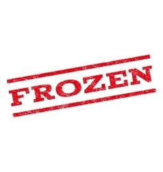 Frozen watermark stamp vector