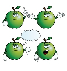 Bored apple set vector image