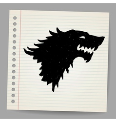 Black wolf for your design vector