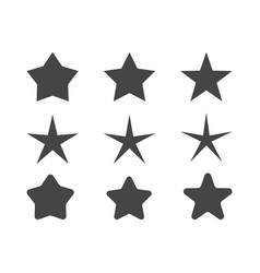Set of stars with different radius of beams vector