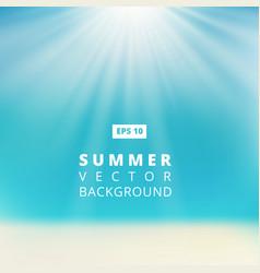 Summer beach with sunlight blue sky vector