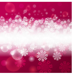 christmas pink background vector image