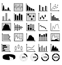 Collection of diagrams and charts vector