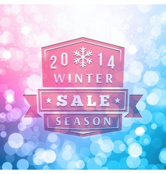 2014 Winter Sale Label On Blurred Background vector image