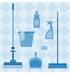 Domestic tools set vector