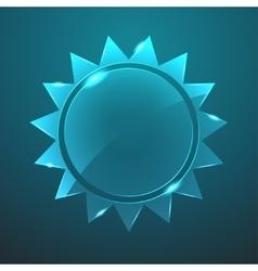 glass sun icon Eps10 vector image