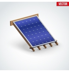 Icon solar panel cover on roof vector