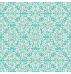 Seamless vintage floral pattern blue vector