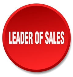 Leader of sales red round flat isolated push vector