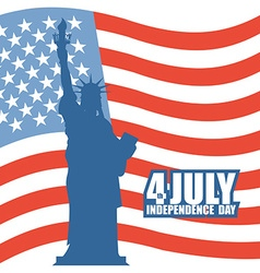 July 4th independence day of america statue of vector