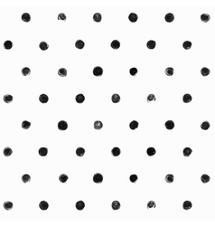 Black and white polka dot seamless pattern vector