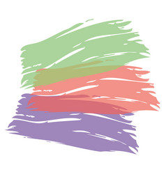 Color brush painted watercolor art abstract paint vector