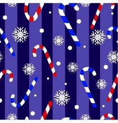Cute Christmas seamless pattern with candy canes vector image vector image