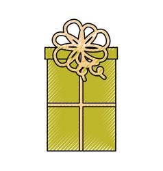Cute scribble christmas gift vector