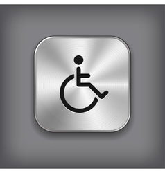 Disabled icon - metal app button vector