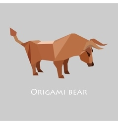Flat design with origami bull vector
