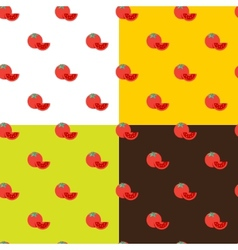 flat tomatos seamless pattern vector image vector image