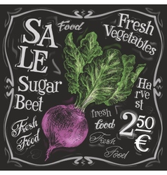 fresh beet logo design template vegetables vector image vector image