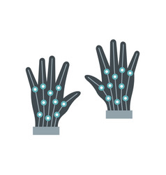 gloves virtual reality in flat style vector image vector image