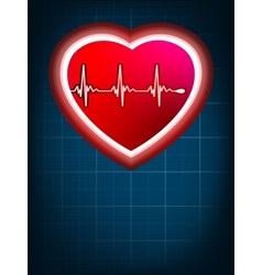 heart beats cardiogram vector image