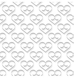 heart gray on white background vector image