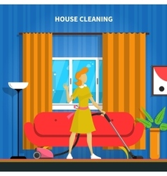 House cleaning background vector