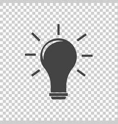 Idea icon flat vector