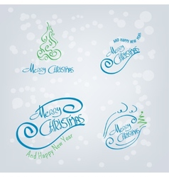 Merry Christmas Hand Drawn Elements vector image vector image