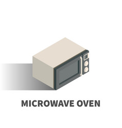 microwave oven icon symbol vector image vector image