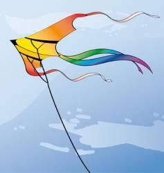 Multicolor kite vector