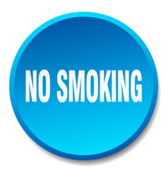 No smoking blue round flat isolated push button vector