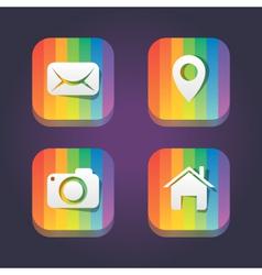 rainbow web icons vector image