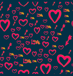 seamless chaotic pattern with cupid arrows love vector image
