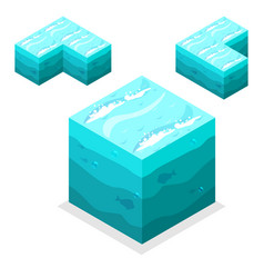 Seamless game block isometric cubes nature vector