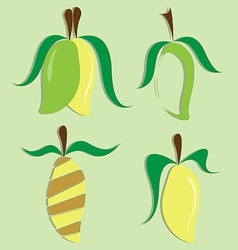set of mango icon vector image vector image