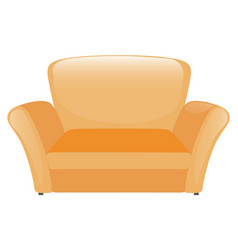 single sofa in yellow color vector image