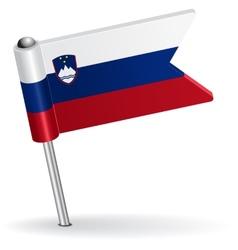 Slovenian pin icon flag vector