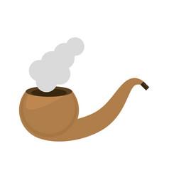 st patricks day tobacco pipe smoke vector image