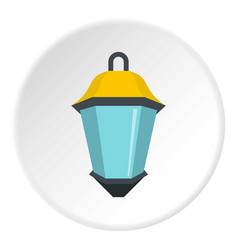 street light icon circle vector image