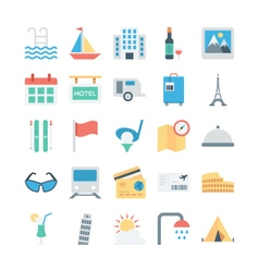 Travel and tourism colored icons 4 vector