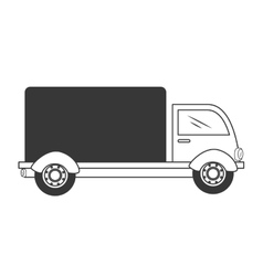 Truck delivery shipping isolated vector